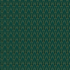 Art Deco Leaves Pattern