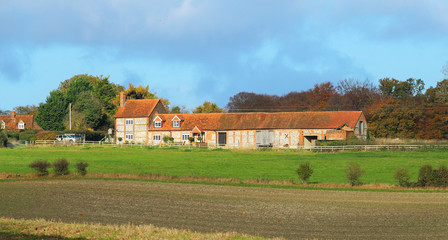 Traditional English Rural Farmhouse