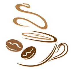 Kaffee, Kaffeetasse, Kaffeebohnen