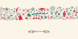 Vintage Christmas seamless pattern background, wrapping paper