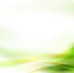 Abstract smooth green flow background, Vector illustration