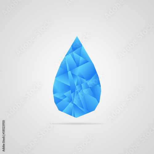 Abstract vector water drop