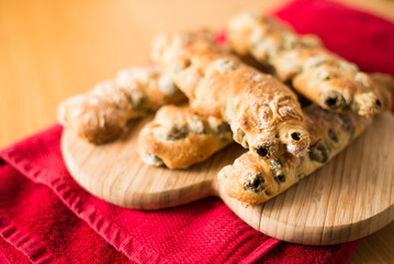 Close up of Chunky Italian Olive Breadsticks