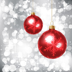 Background with Christmas Balls
