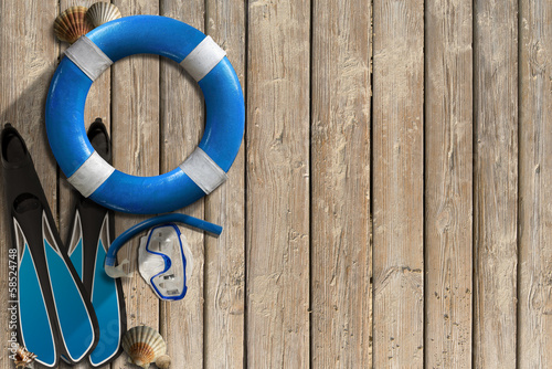 Lifebuoy and Snorkeling Equipment