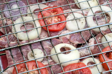 Fresh meat for Barbecue Grill