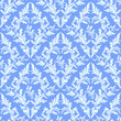 Light blue seamless damask Wallpaper.
