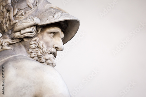 Staande foto Standbeeld Menelaus supporting the body of Patroclus