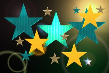 Sterne blau grün
