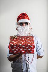 funny santa claus gift box babbo natale