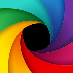 Swirly colorful paper background