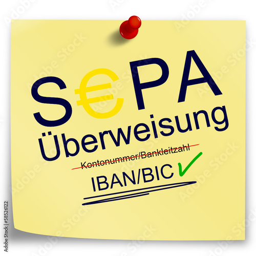 Post-It SEPA Übeerweisung
