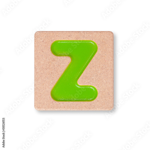 Letter Z isolated on white background