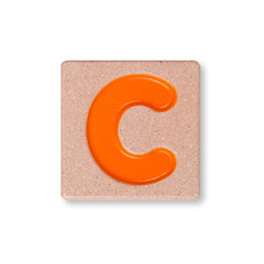 Letter C isolated on white background