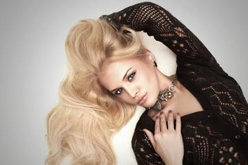 beautiful passion sexy blond woman