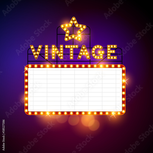 Retro Vintage Billboard Vector