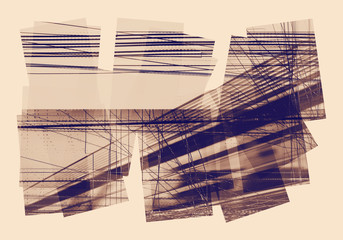 graphic lines collage