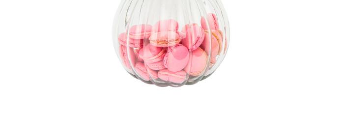 French Macaron In A Glass Jar