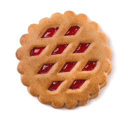 Single cookie with fruit jam filling