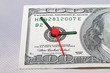 Clock on a banknote