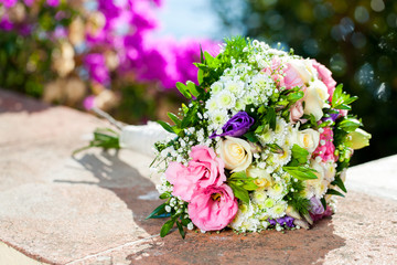 Colorfull flower bouquet.