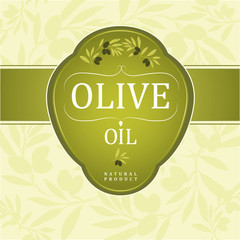 Olive oil.Vector decorative olive branch. For labels, pack.