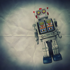 tin robot paper backdrop