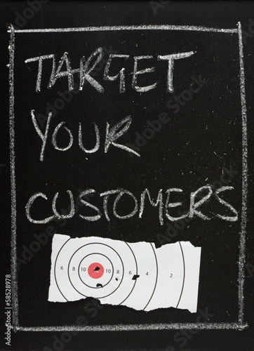 Target Your Customers Blackboard Concept