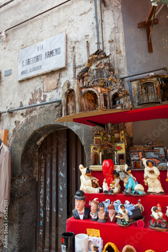 San Gregorio Armeno street of the nativity scene in Naples