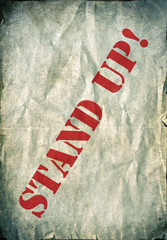 Stand up grunge poster