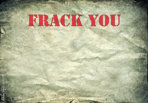 Red Frack you letters on a vintage paper background