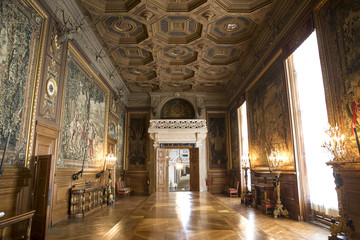 Château de Chantilly, interiors and details, Oise, France