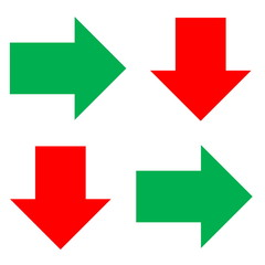 arrows green and red