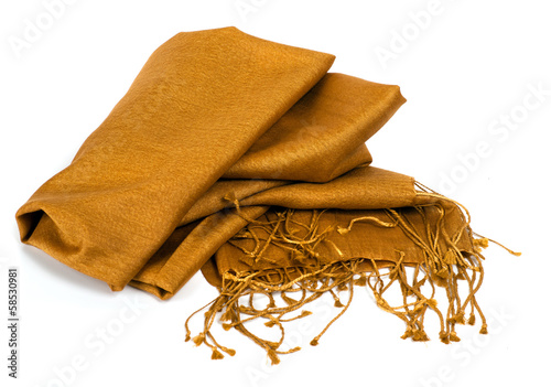 Silk scarf gold