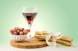 Weinglas mit Grissini 1