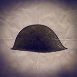 army helmet paper backdrop