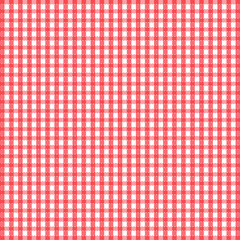 Seamless retro white-red square tablecloth