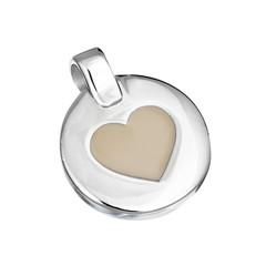 Silver pendant in shape of heart