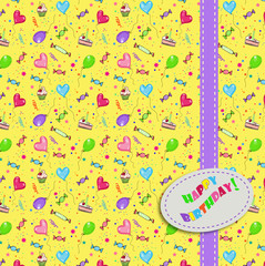 Seamless party pattern happy birthday
