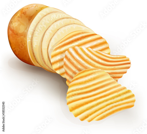 wavy potato chips