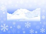Winter Landscape Greetings- Vector