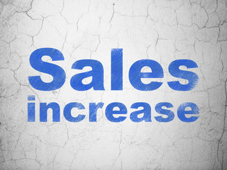 Marketing concept: Sales Increase on wall background