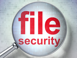 Protection concept: File Security with optical glass