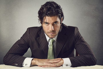 Handsome businessman with resolute eyes