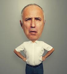 funny portrait of man