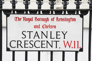 stanley crescent W11 a famous London Address