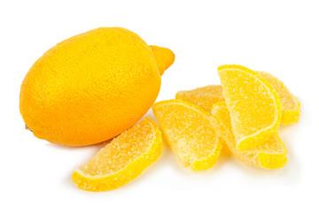 Fresh lemon and marmalade