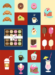 Sweet Icon Set for Confectionery Business