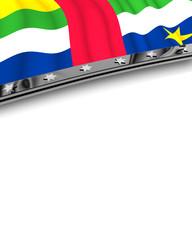 Designelement Flagge Zentralafrika