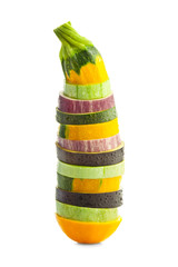 Sliced Zucchini (courgette) and Eggplants / Colorful vegetable c